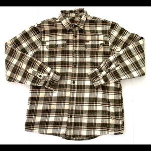 ORVIS MENS OUTDOOR HEAVY FLANNEL PLAID SHIRT